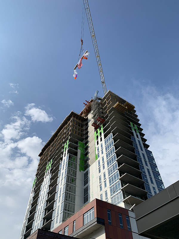 Final Beam Signed and Raised at Saint John's On The Lake Third Tower Expansion Project 5