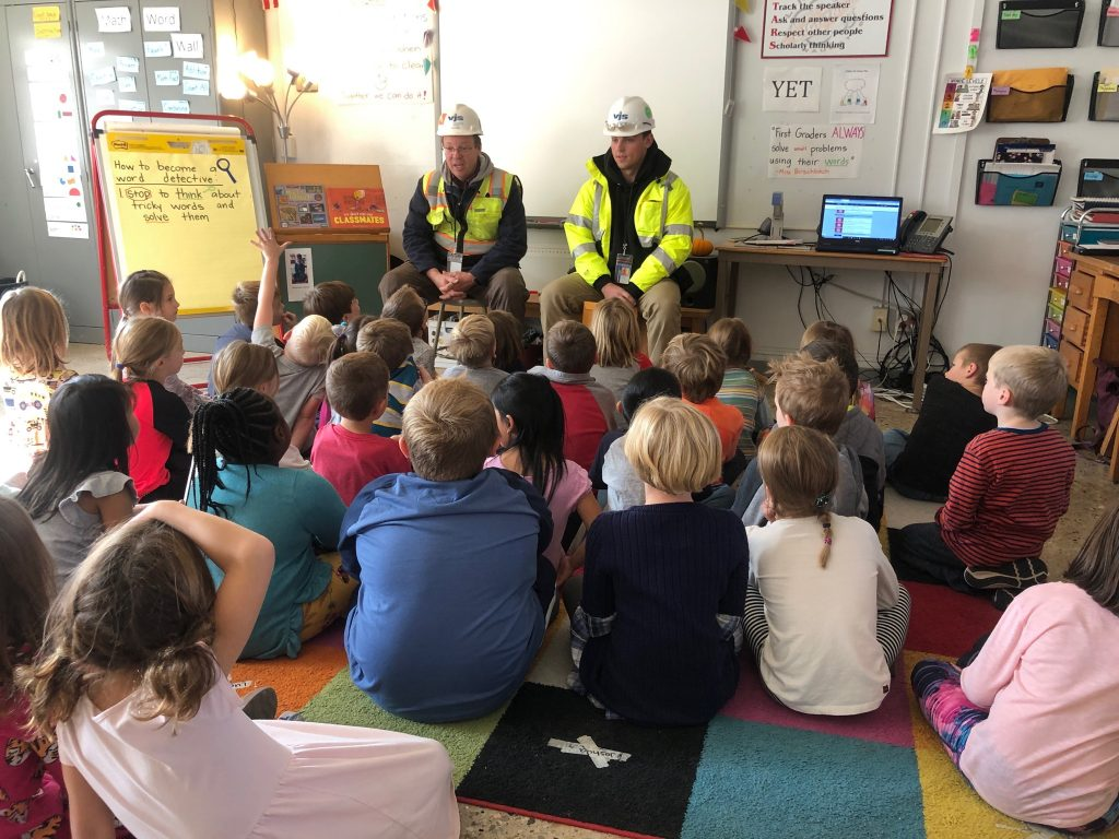 VJS Employees Dan Nash and Riley Buol Hold Q&A with Students at Lincoln Elementary School 1