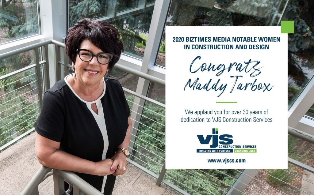 VJS Construction Services Vice President of Marketing, Maddy Tarbox, Named One of BizTimes Notable Women In Construction & Design 1