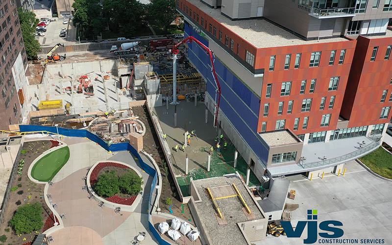 Saint John's On The Lake Slab on Grade Pour Takes Place at Health Services Building 1