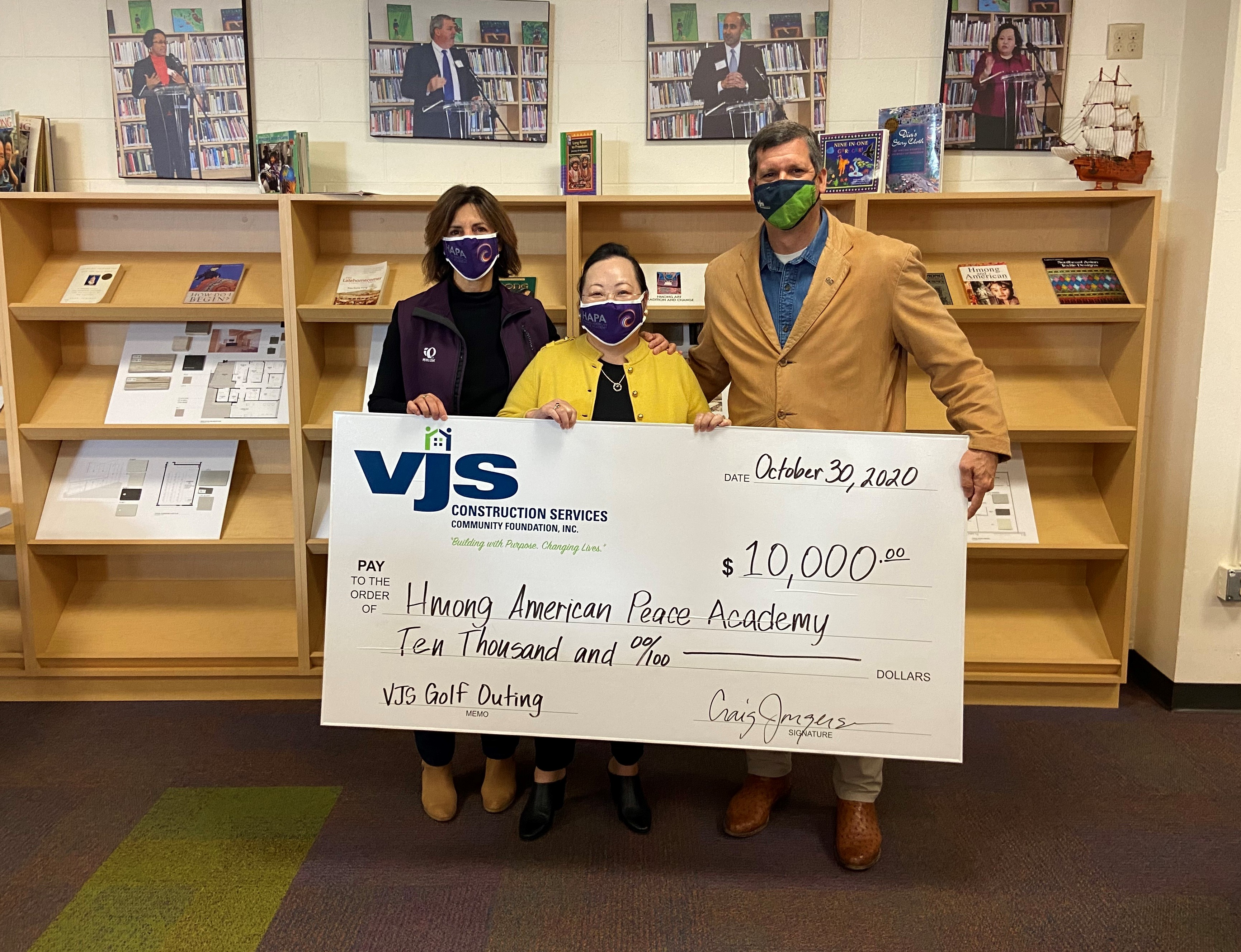 VJS Donates Proceeds from 4th Annual Golf Outing to Three Non-Profit Organizations 1